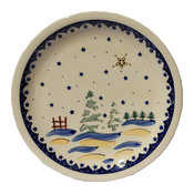 Polish Pottery Dinner Plate, Pattern Number: 182A