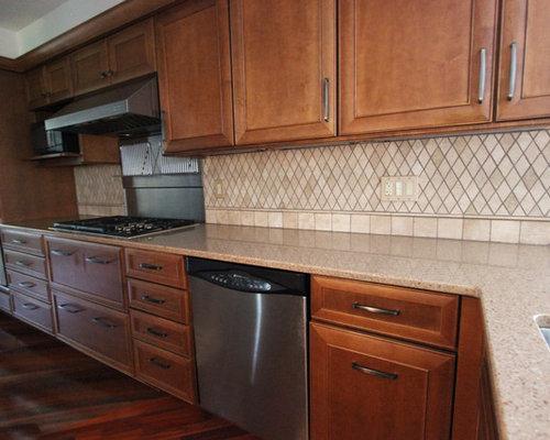 Beige Durango Kitchen Backsplash ~ North Royalton, OH