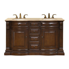 "60"" Furniture Style Double Sink Vanity With Choice of Top"