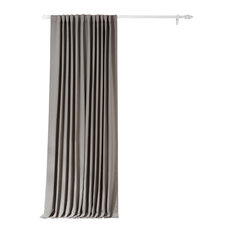 """Neutral Gray Doublewide Blackout Curtain Single Panel, 100""""x96"""""""
