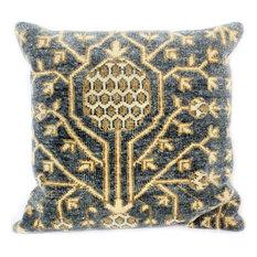Bashian - Bashian Mannix Pillow, Slate, 2'x2' - Decorative Pillows