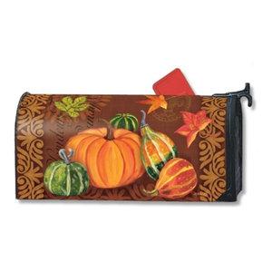 Magnet Works Vintage Harvest Pumpkin /& Squash Leaves Magnetic Mailbox Wrap Cover