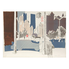 Fairfield Porter, untitled, NYC, Lithograph