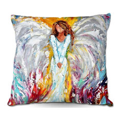"""Angel Watching Over Me Throw Pillow, 20""""x20"""""""