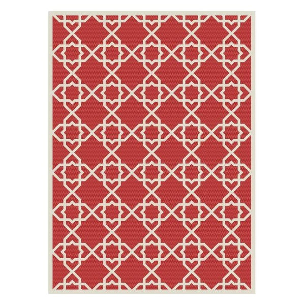 Safavieh Courtyard Cy6032-248 Red, Beige Area Rug