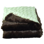 Cozy Faux - Cozy Faux Fur Throw, Brown Rabbit Sage - Our most lavish Cozy Faux throws have the look and feel of genuine animal fur. We only use the finest fabric available to make our hand-made faux-fur throws. They are the ultimate in thickness and remarkable softness. Decorators love using them to finish a room! Made in the U.S.A.