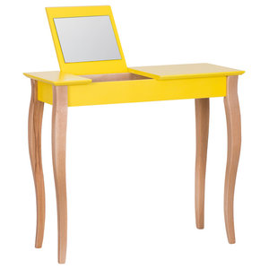 Lilo Medium Scandinavian Dressing Table, Yellow