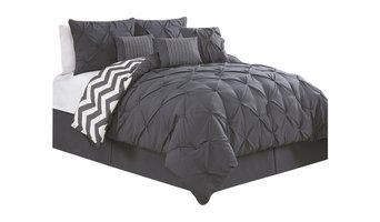 Avondale Manor Ella 7 Piece Comforter Set, Charcoal, Queen