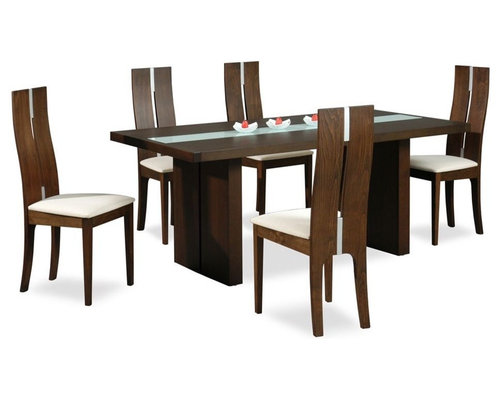 High Class Glass Top 5 Piece Dining Set With Chairs   Dining Sets