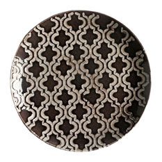 Ceramic Round-Shape Plates, 7.5 Inches, Brown