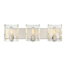 Handel 3 Light Bath Bar, Satin Nickel