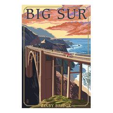 """Bixby Bridge, California Coast"" Print, 16""x24"""