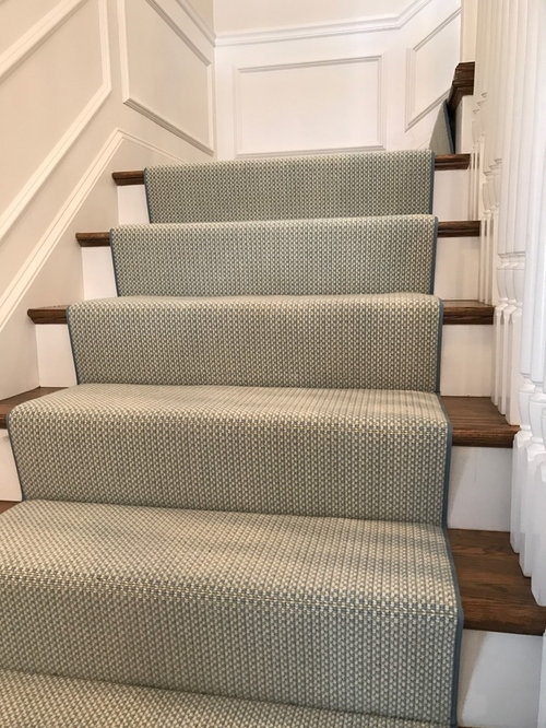 Wool Carpet Remnant Stair Project   Hall And Stair Runners