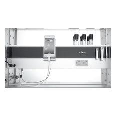 "M Series Cabinet 20""x40""x4"" Flat Top Polished Edge Right Hinge, MC2040D4FPR"