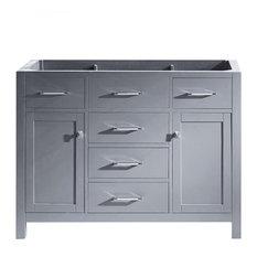 "Virtu Caroline 48"" Cabinet Only, Gray"