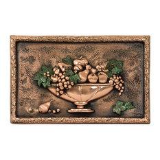 Small Fruit Bowl Backsplash Mural, Copper