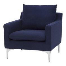 Nuevo Living Anders Single Seater, Navy Blue