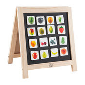 Kids Educational Wooden Easel and Magnet Set