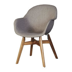Anna Dining Chairs, Pale Grey, Set of 4