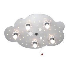 Starry Cloud Ceiling/Night Light, Silver, 5 Bulbs
