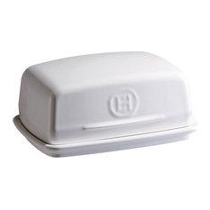 Emile Henry Butter Dish, Flour White