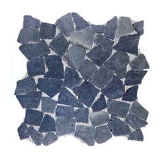 "12""x12"" Bali Black Flat Pebble Stone Tile Sheet"