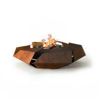 GlammFire Stravaganza Ethanol Fire Pit, Firewood / Charcoal