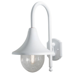 Bari Outdoor Wall Light, Matte White