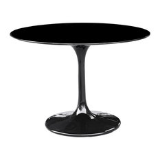 "Fine Mod Imports Flower Table 42"", Black"
