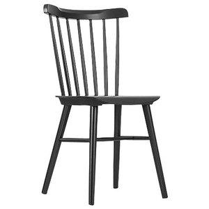 Wood Kitchen Dining Chair, Black