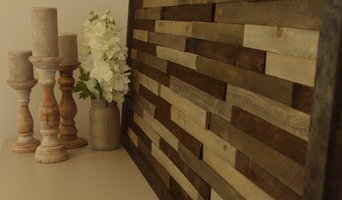 Reclaimed wood shims wall art