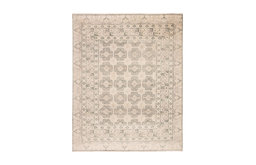 Jaipur Living Stage Knotted Border Ivory/Green Area Rug, 6'x9'