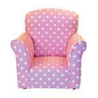 Toddler Rocker, Baby Pink with White Polka Dot Printed Cotton