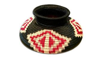 Wounaan Art Vase Basket,  Handmade