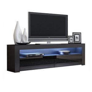5fa2bb3738b Smart Home 75 inch Jet Black TV Stand Media Edition - Midcentury ...