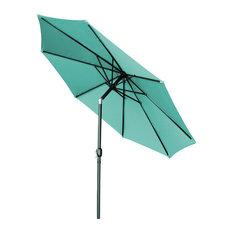 Tilt-Crank Patio Umbrella, Teal, 10'