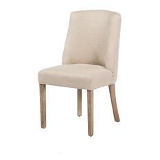 Beatrix Dining Chair, Flax Linen