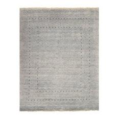 "EORC Handmade Wool Gray Traditional Solid Lori Baft Rug, Rectangular 2'6""x8'"
