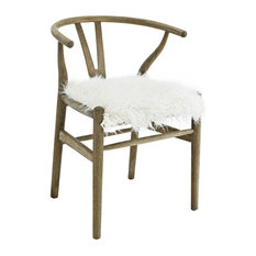 Ellisa Wishbone Chair, Gray Brown Wash