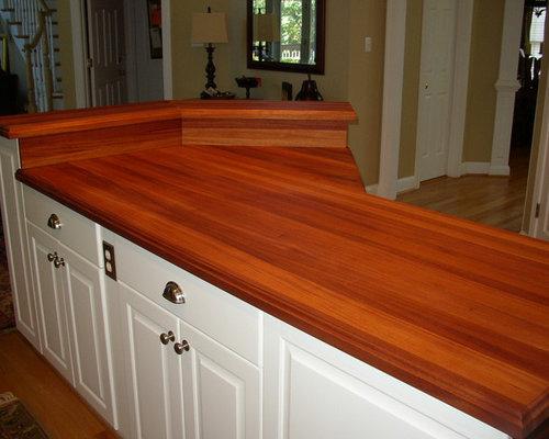 Great Custom African Mahogany Wood Countertop   Kitchen Countertops