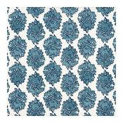 Tab Top Curtain Panels Pair Zira Seaside Medallion Blue Cotton