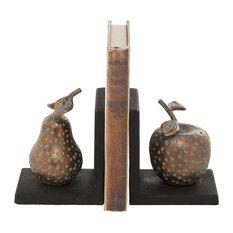 Bronze Metal Contemporary Bookends, 5x4x4