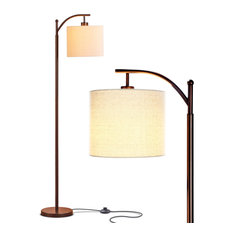 Brightech Montage - Bedroom & Living Room Floor Lamp - Reading Standing Light, O