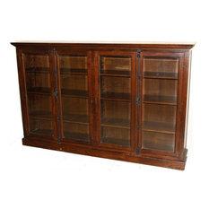 Bookcase Oak 4 -Door 6 -Shelf