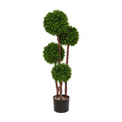 3 ft. Boxwood Topiary Artificial Tree in Green