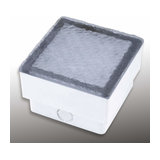 Walk-on LED recessed floor light, paving stone