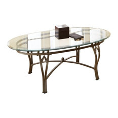 steve silver company steve silver madrid oval glass top coffee table weathered pewter