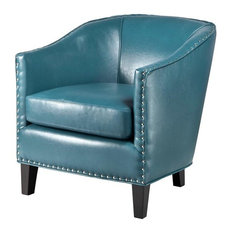 Madison Park Fremont Barrel Arm Chair Blue