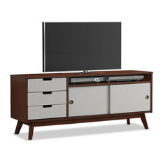 affordable modern classic midcentury style tv stand center walnut with tv lift cabinet costco