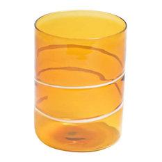 Amber Wine Tumbler, Set of 6, 7.5 cm